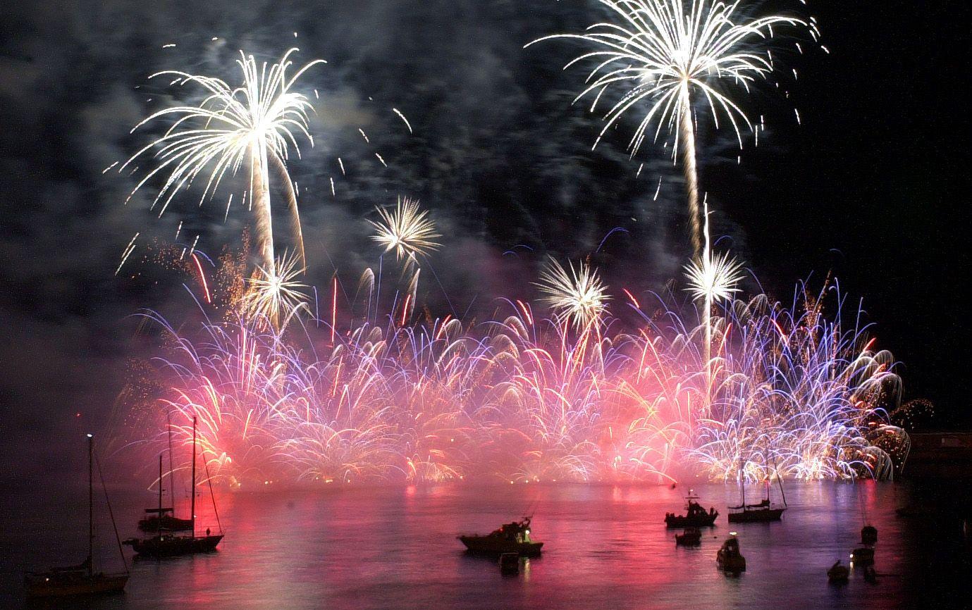 Fireworks at Atlantic Festival Funchal Bay, Madeira