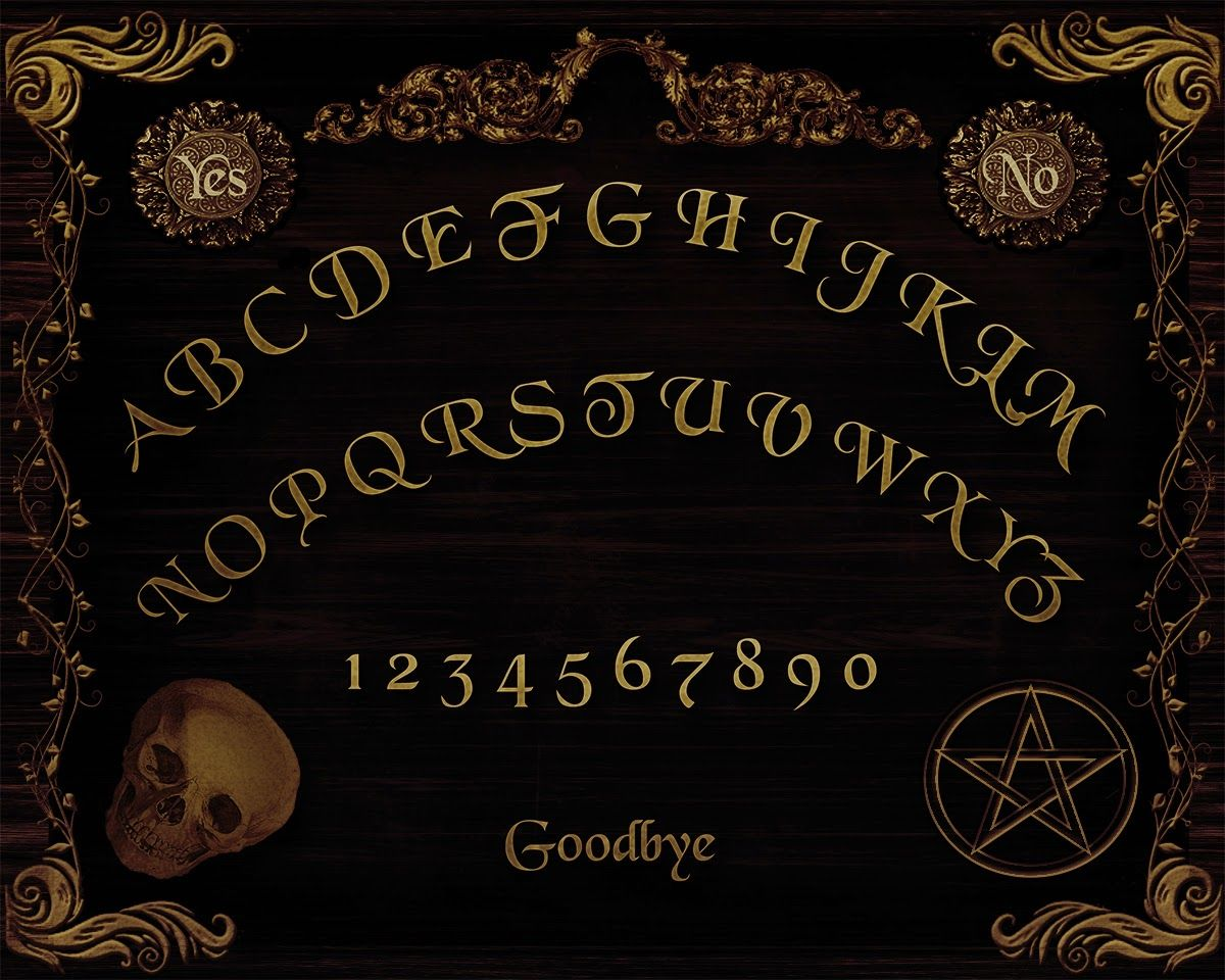 graphic about Ouija Board Printable titled Electronic Printables: Free of charge Ouija Board Printable for Halloween