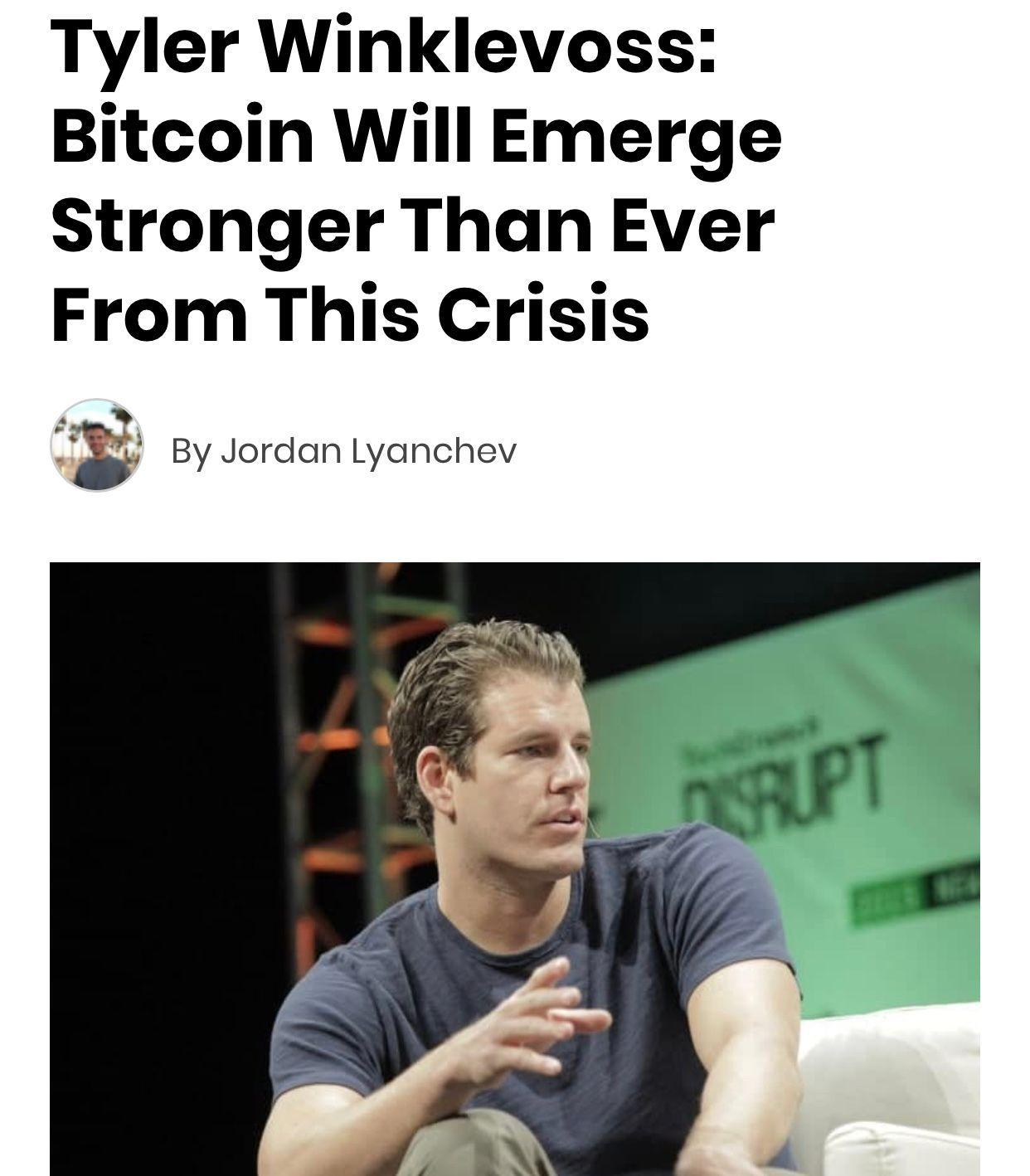 Tyler Winklevoss Bitcoin Will Emerge Stronger Than Ever