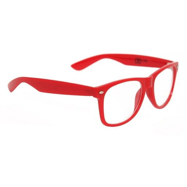 85c8ef74f3e Red Nerd Glasses ( 6.95) ❤ liked on Polyvore featuring accessories ...