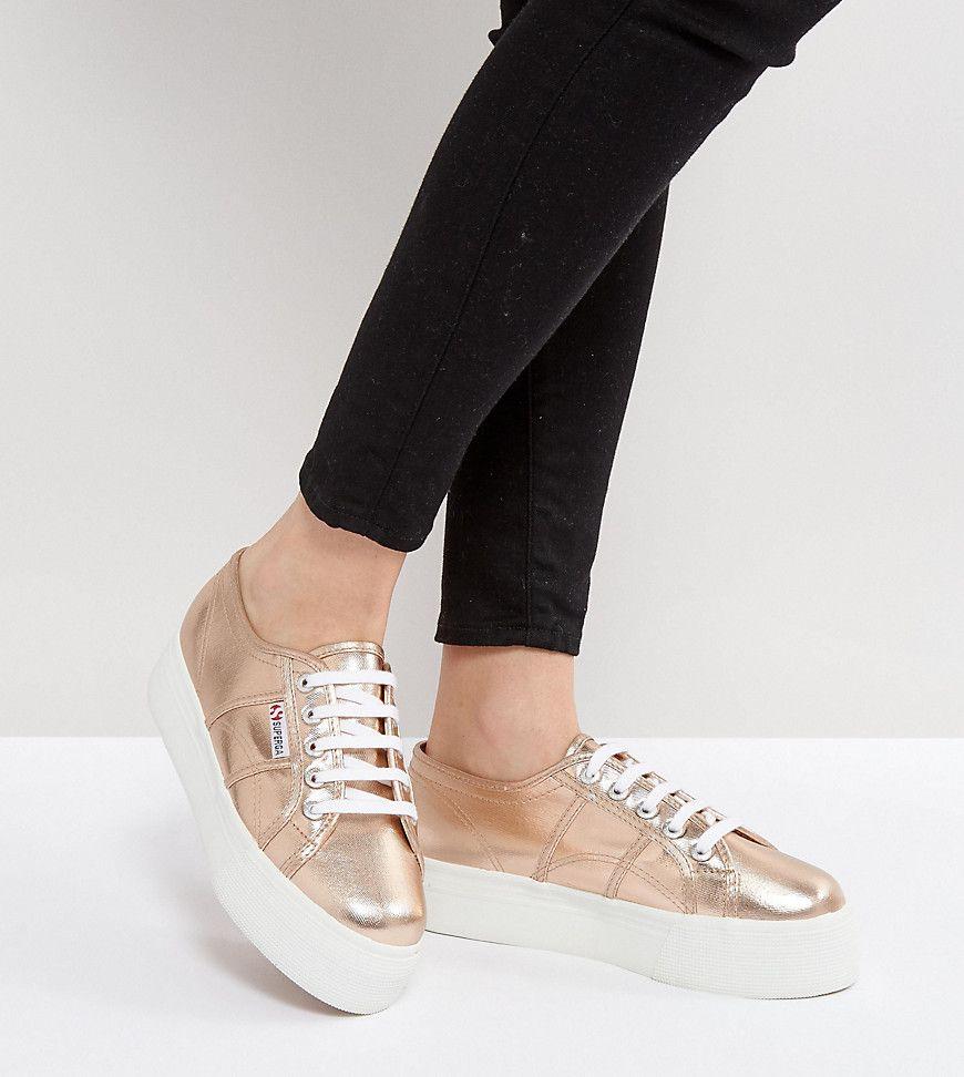 Superga Sneakers - Cuero - Dorado Rosa Compre una amplia gama económica de Outlet de moda Clásico EMKcmIGTz