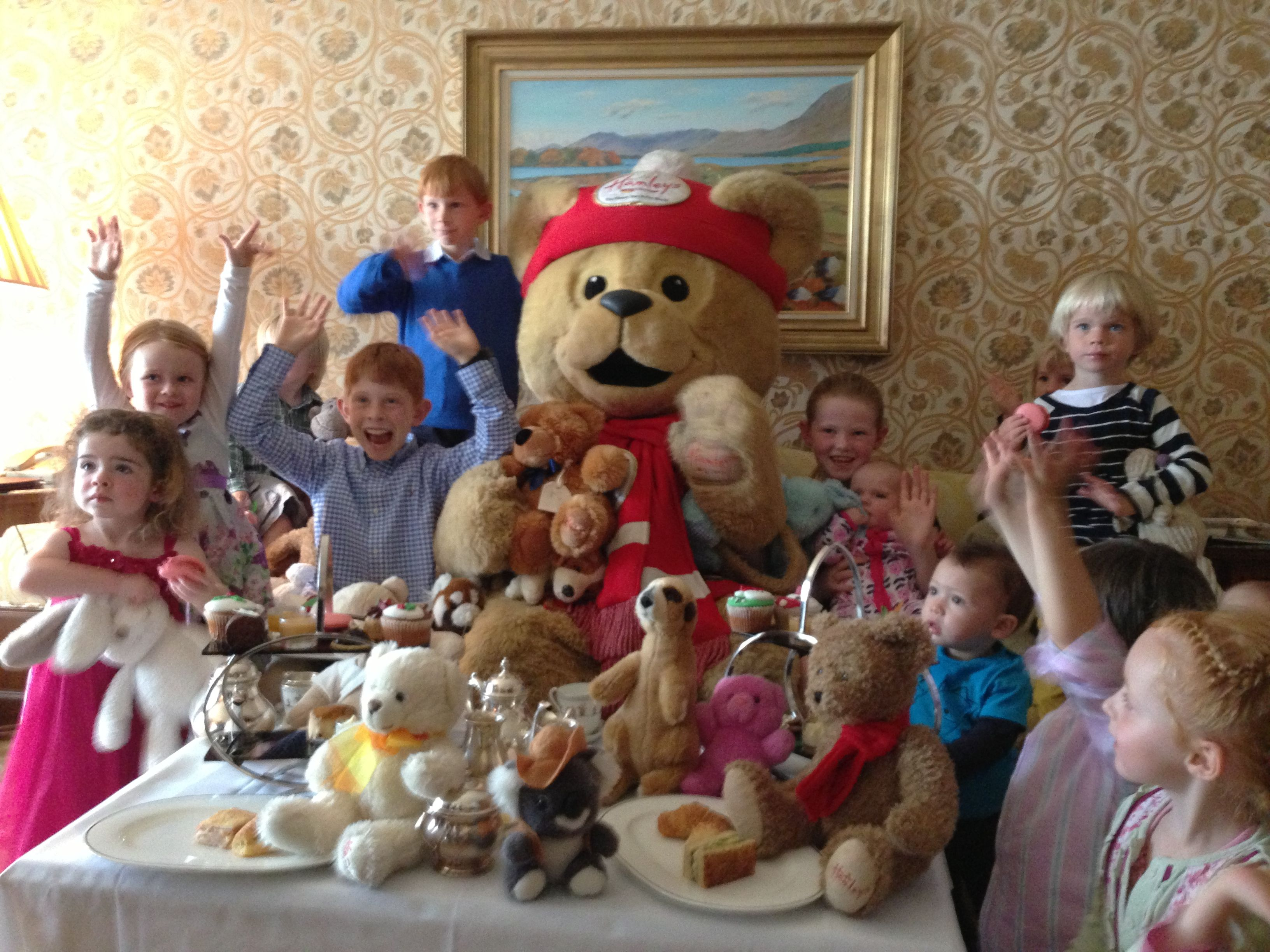 Hamleys Bear at the launch of the Christmas Teddy Teas at InterContinental Dublin #Christmasiscoming
