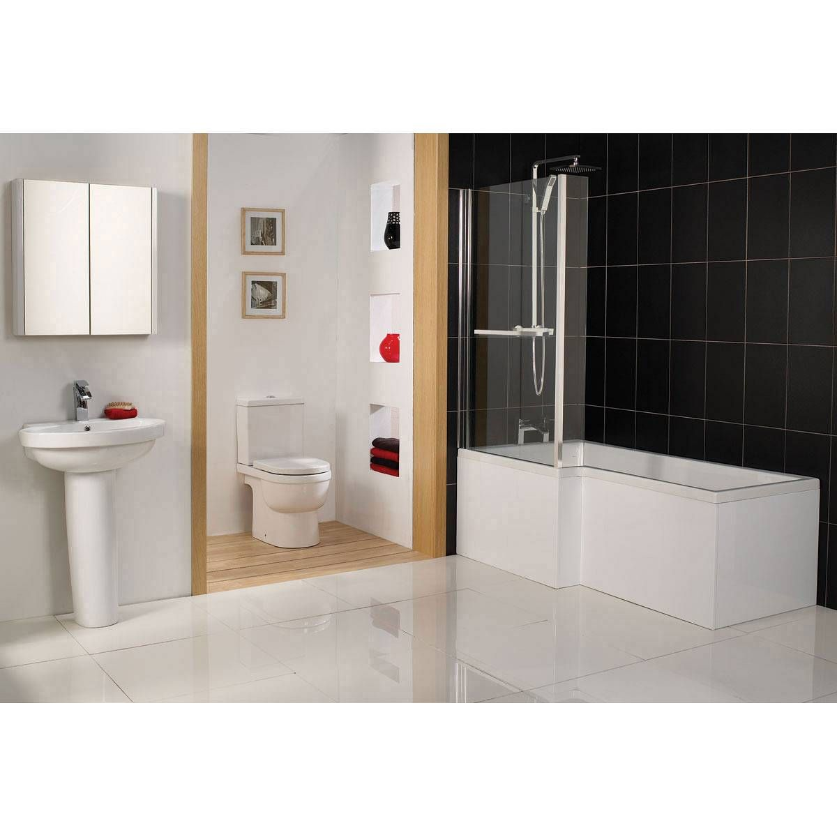 Cambridge Square Shower Bath LH & Screen inc. Towel Rail - Now £209 ...
