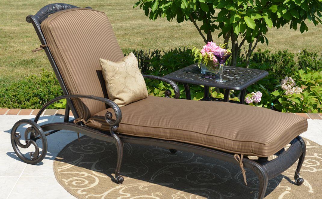amalia luxus cast aluminum patio mobel chaise lounge im chaise lounge terrasse sofa