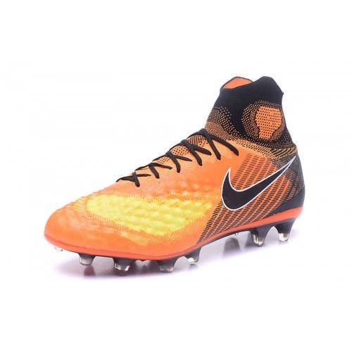 buy online 54bc9 035b1 Bueno Nike MagistaX Proximo II FG Naranja Negro Zapatos De Soccer