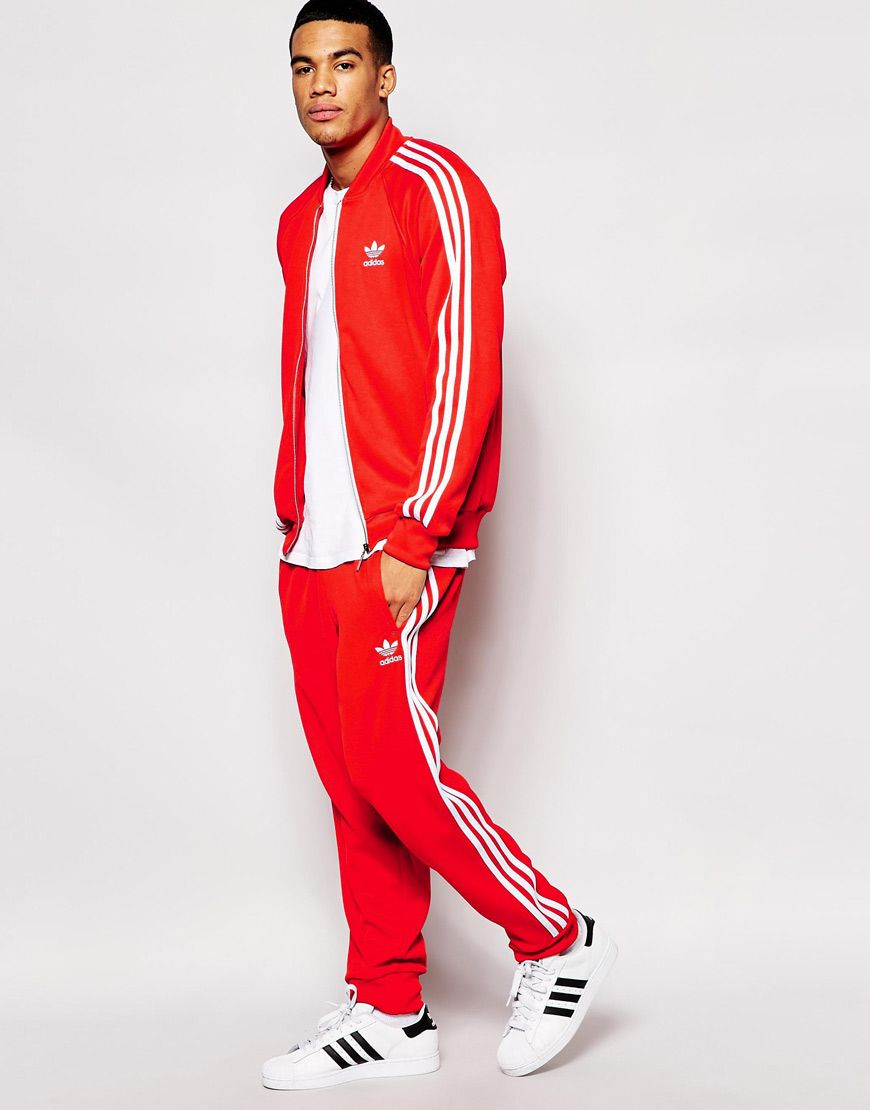 Image 1 of Adidas Originals Tracksuit | Red adidas outfit