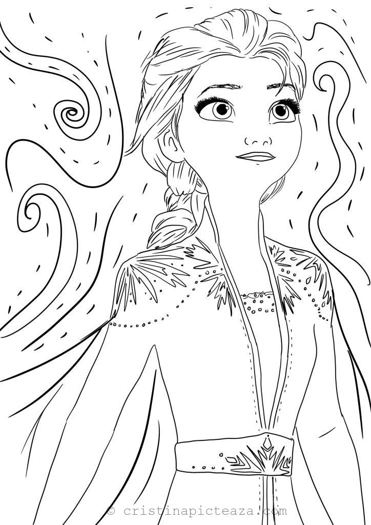 Coloring Pages With Elsa In White Dress Frozen 2 Cristina Is Painting In 2020 Coloring Pages Frozen Coloring Sheets Frozen Coloring
