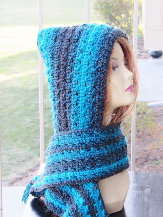 A Free Crochet Hooded Scarf Or Scoodie Pattern For Anyone Who Is Not