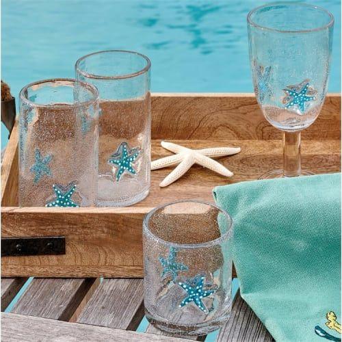 Starfish Juice Glass 8 Oz In 2020 Seashore Decor Glass