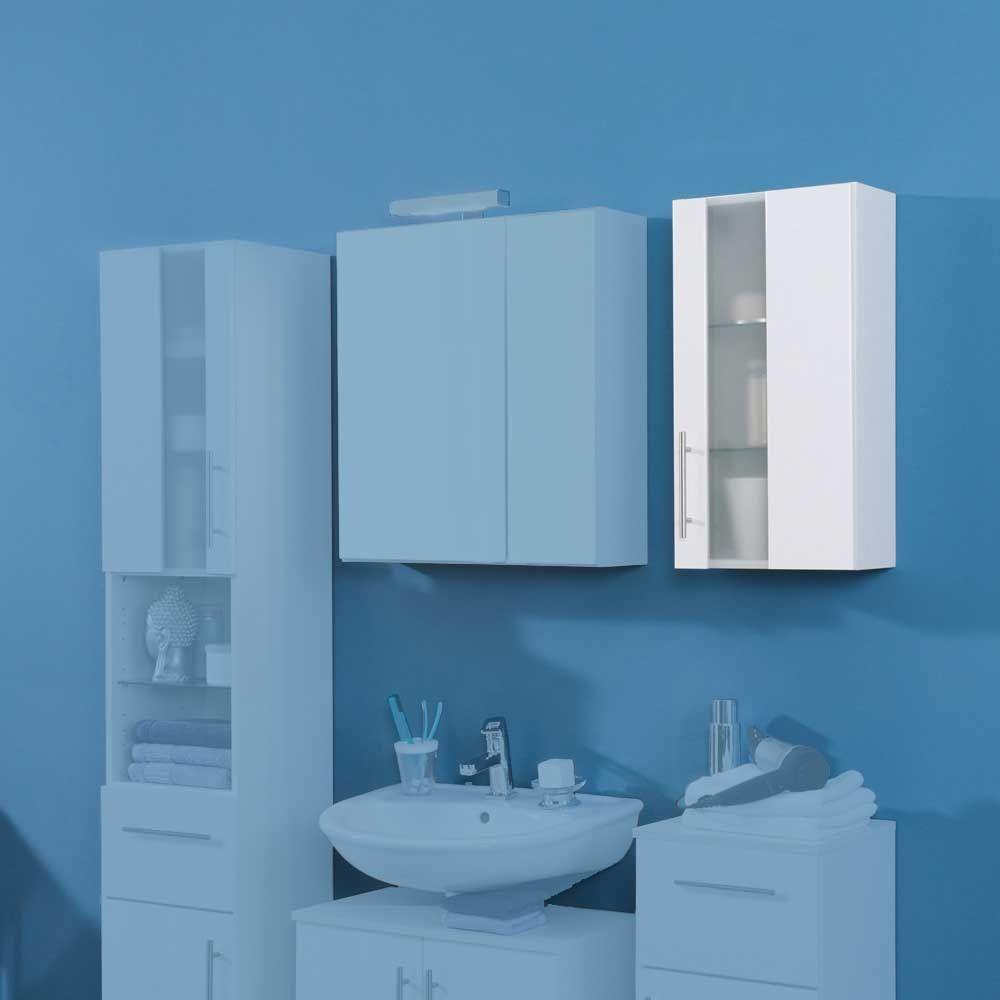 Badezimmer Hängeschrank in Weiß Milchglas Jetzt bestellen unter ...