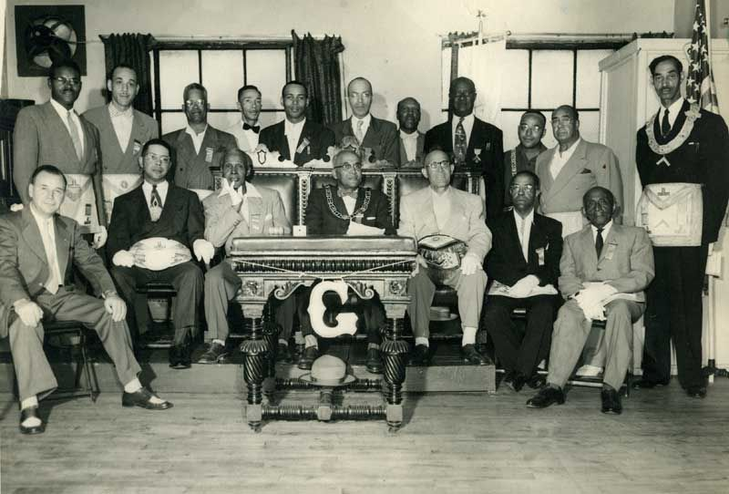 Grandmaster McCurdy with fellow Prince Hall Masons - Photo ...