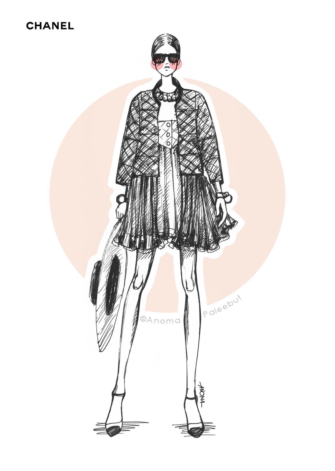 Chanel Modern Couture Pinterest Ilustraciones De Moda Moda