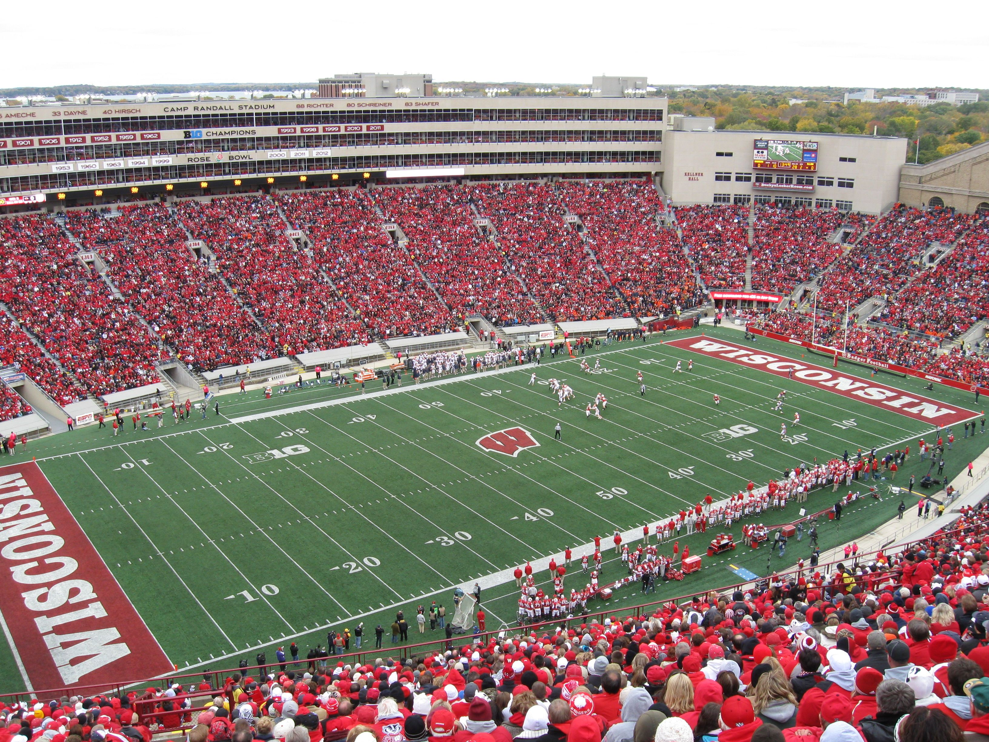 127 Camp Randall Stadium Wisconsin Football Football Canvas Stadium