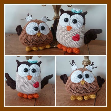 amigurumi, hibou | cute little owls | Pinterest | Eule, Häkeln und ...