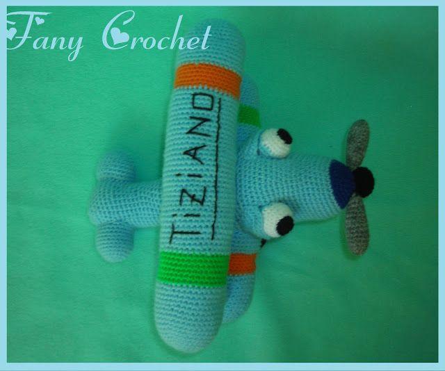 Fany Crochet: AVIONCITO VIAJERO (con Patron) MI... | Ganchillo ...