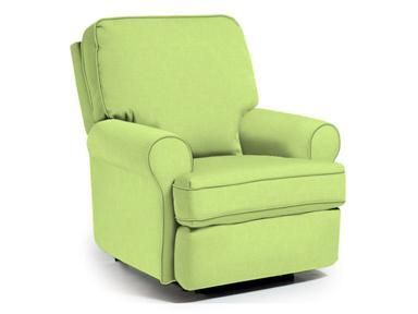 Best Chairs Inc Tryp Swivel Glider Recliner Lime 23191