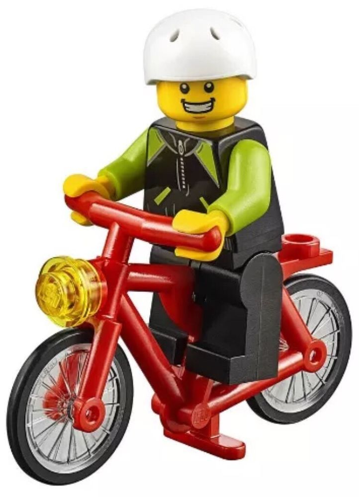 For sale is a brand new/never assembled Man with Bicycle minifig ...