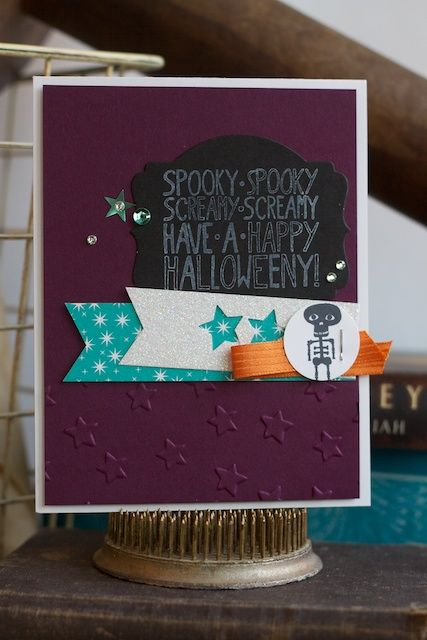 Mingle All the Way stamp set with Freaky Friends stamp set, Stampin' Up! Get ready for Halloween with Stampin' Up! www.stampinbythesea.com