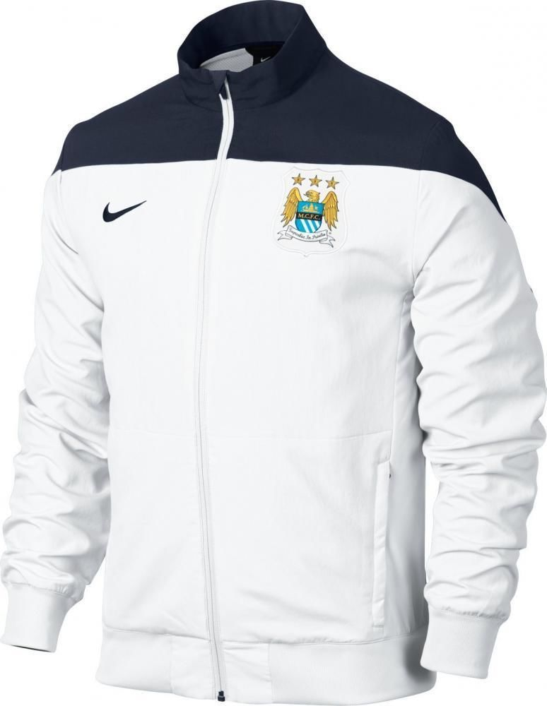 f96ff27eb01a Manchester City Nike white woven polyester football training jacket. Only  £34.99 online.