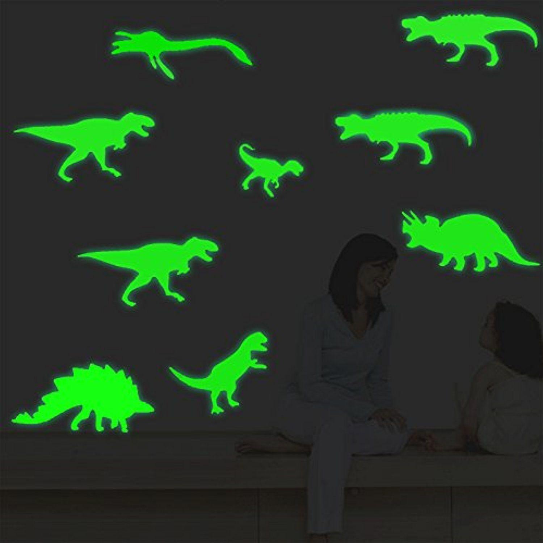 Fly Spray Large Size 9pcs Creative Luminous Wall Decorative Dinosaur