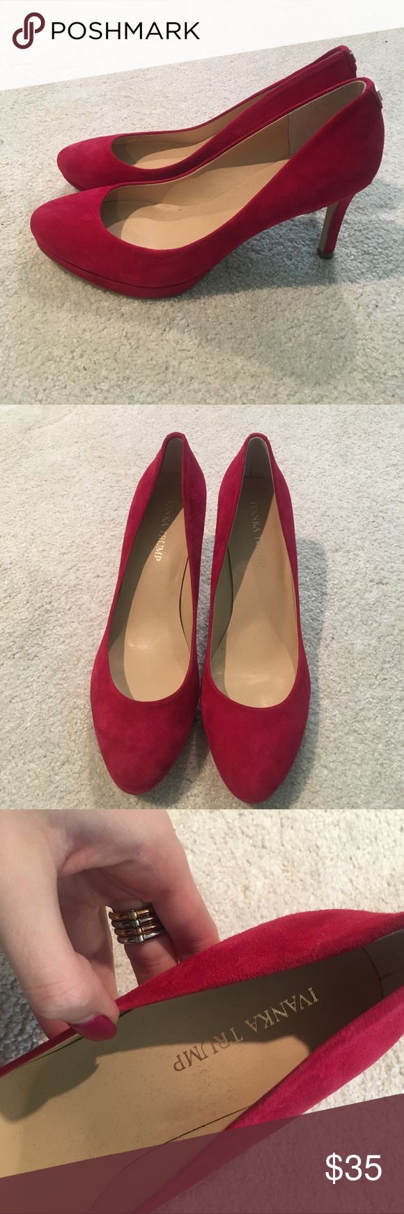 241c2b6319372 Ivanka Trump Red Heels Ivanka Trump Red Heels