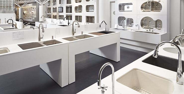 Photo Gallery Website freestanding architecture plumbing showroom pavilion home products display Google Search