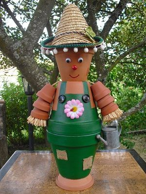 personnage en pot de terre cuite recherche google clay pots pinterest clay flower pot. Black Bedroom Furniture Sets. Home Design Ideas