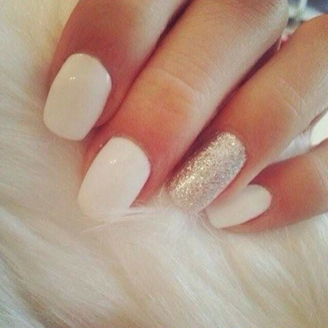 White Frost Nails Trendy Nails White Nails Nail Colors