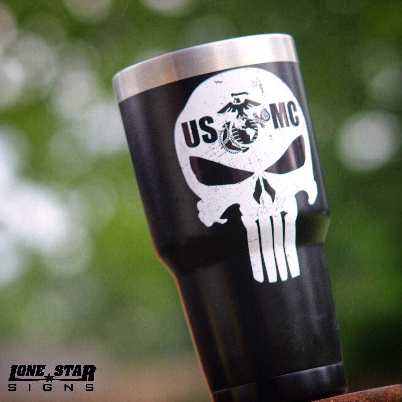 Usmc punisher stickers made by lone star signs online www lstarsigns com