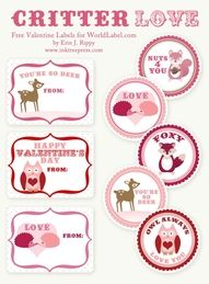 Download These Free Splendid Valentine Day Labels Designed By