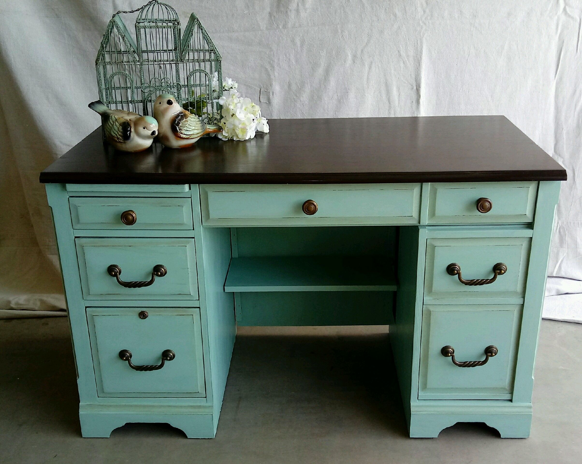 computer desk updated to a beautiful piece cece caldwell on desk color ideas id=78085