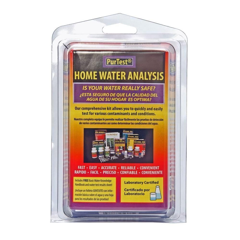 Purtest Home Water Analysis Kit Water Treatment Home Depot Kit