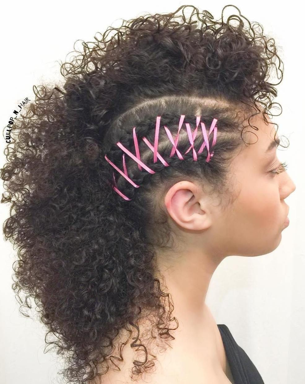 55 styles and cuts for naturally curly hair in 2017 | curly mohawk