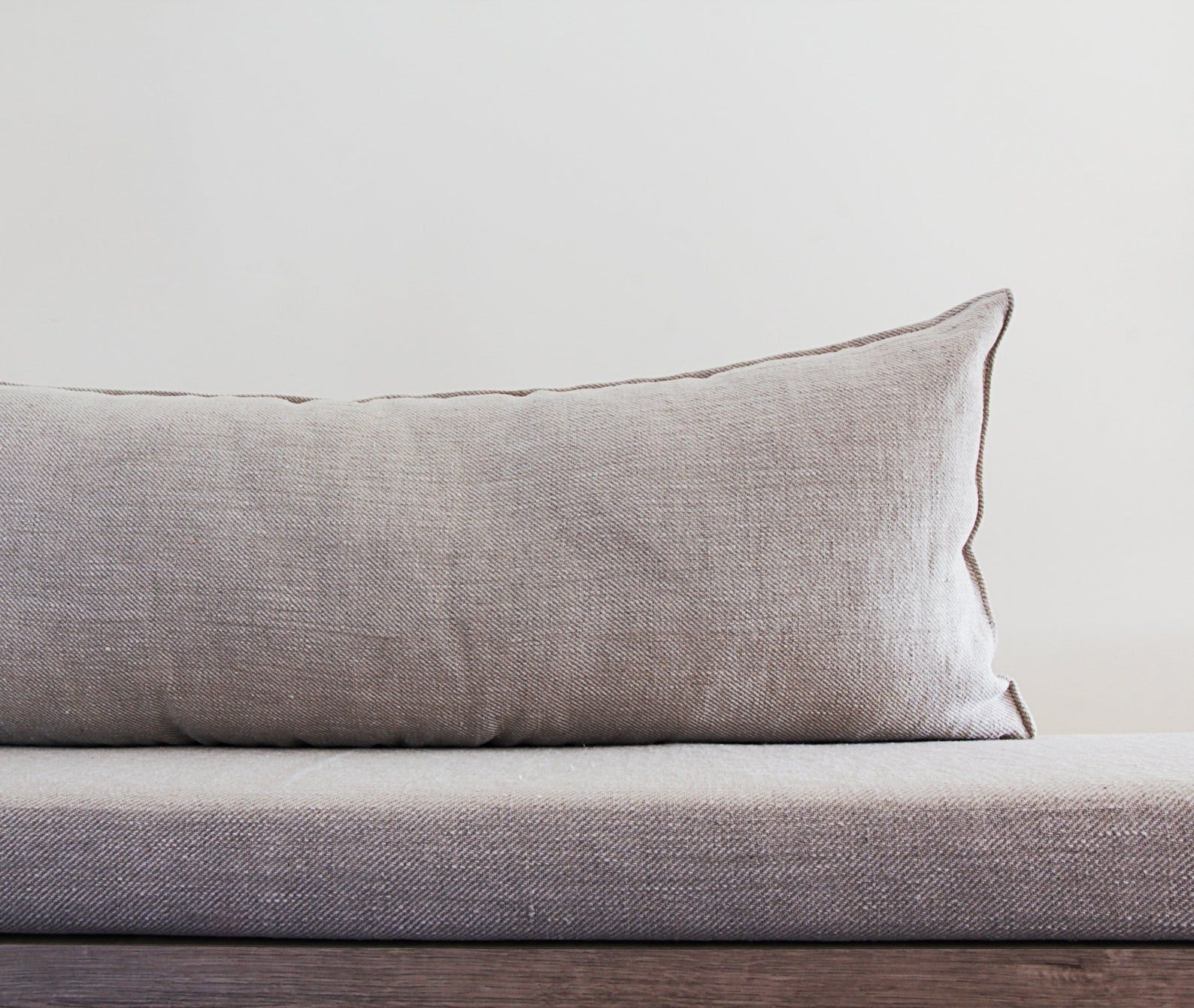 Long Linen Back Cushion For Modern Sofa Or Couch In Custom Size