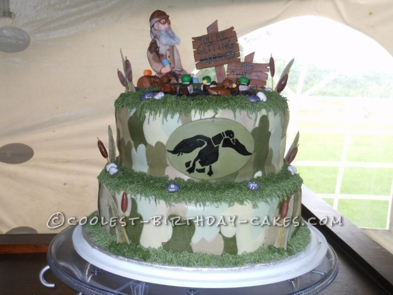 Coolest Homemade Duck Dynasty Groom Cake Birthday cakes Homemade