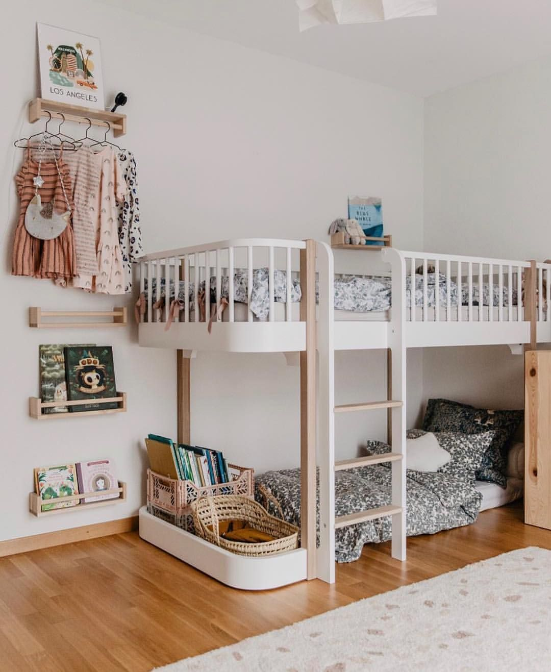 Wood Collection Low Loft Bed In Danish Sustainable Design Styled