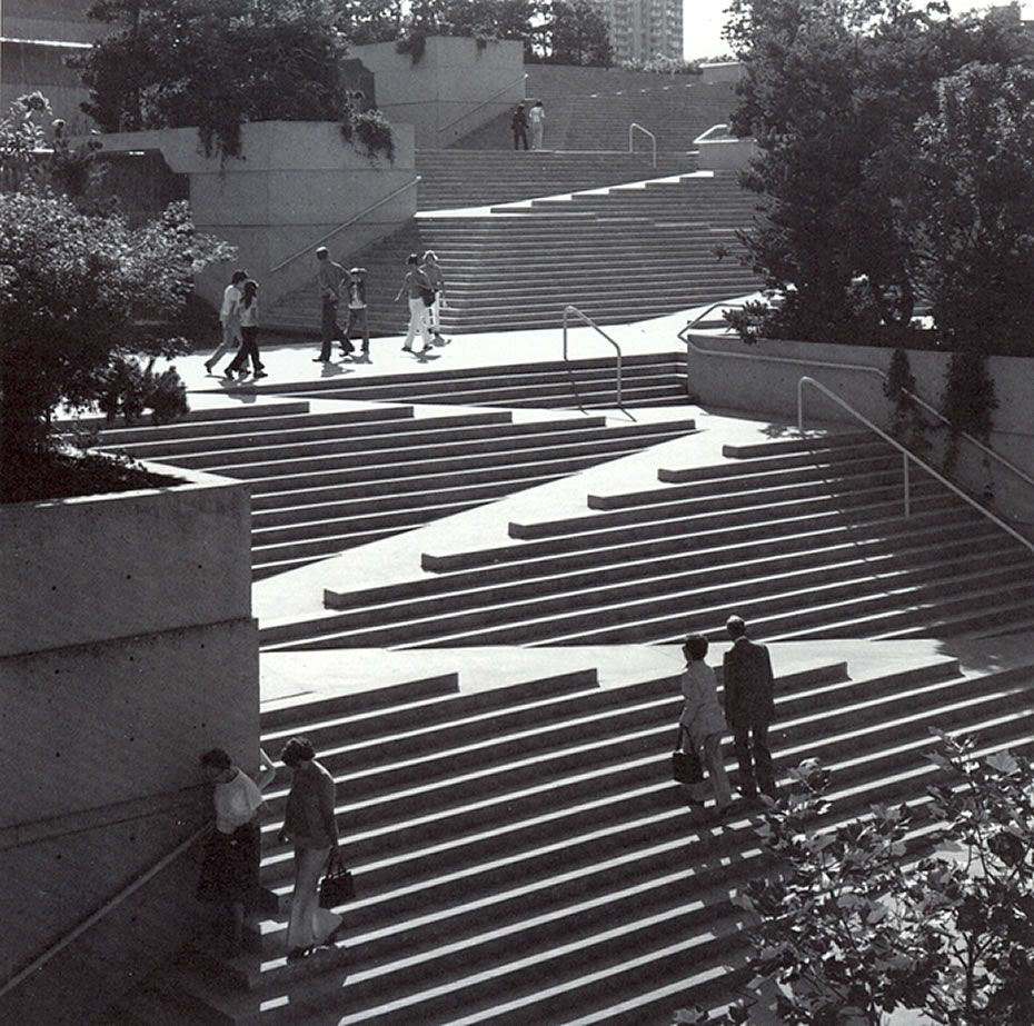 Artistic Stairs Canada: Robson Square, Arthur C. Erickson, Vancouver