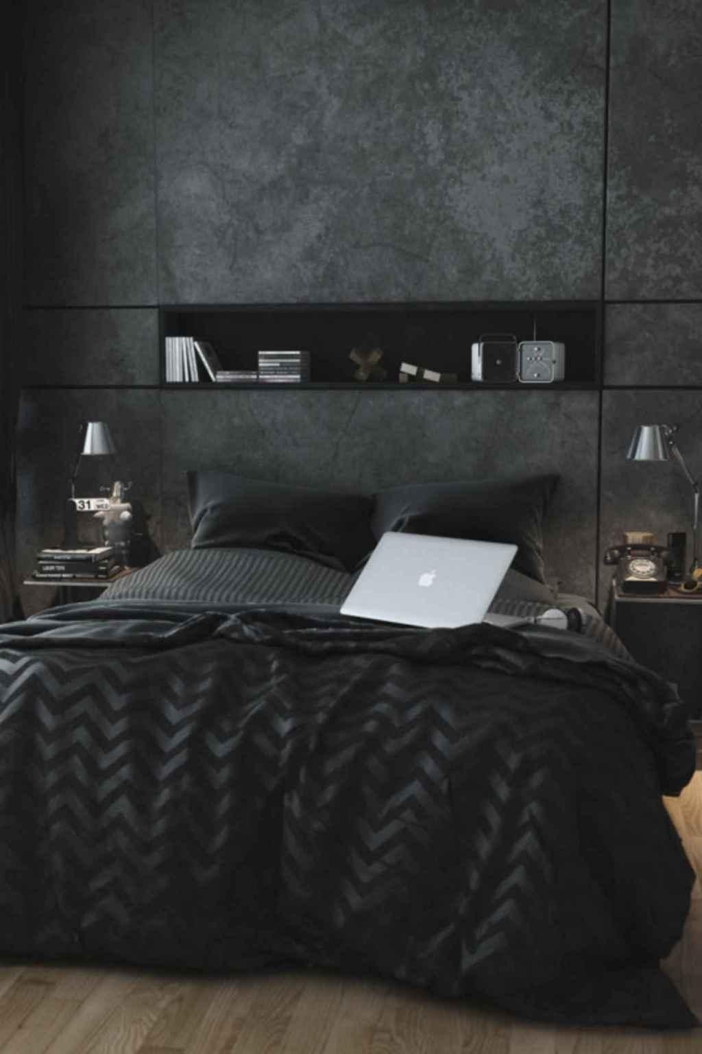 Schwarzes Schlafzimmer 60 Fotos Und Farbe Die Spitzen Verziert Neu Dekoration Stile Schlafzimmer Design Mannliches Schlafzimmer Innenarchitektur