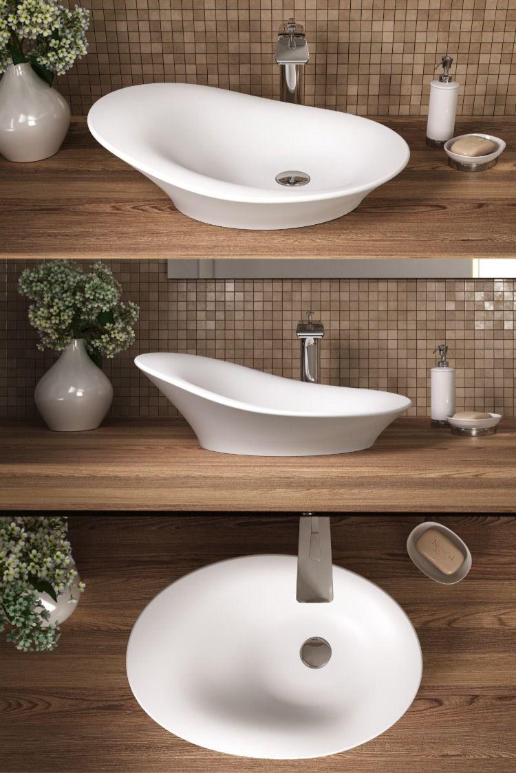 Aquatica Nanomorph Wht Stone Bathroom Vessel Sink In 2020 With
