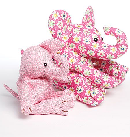 make a pink elephant for your living room today lol | Softies ...