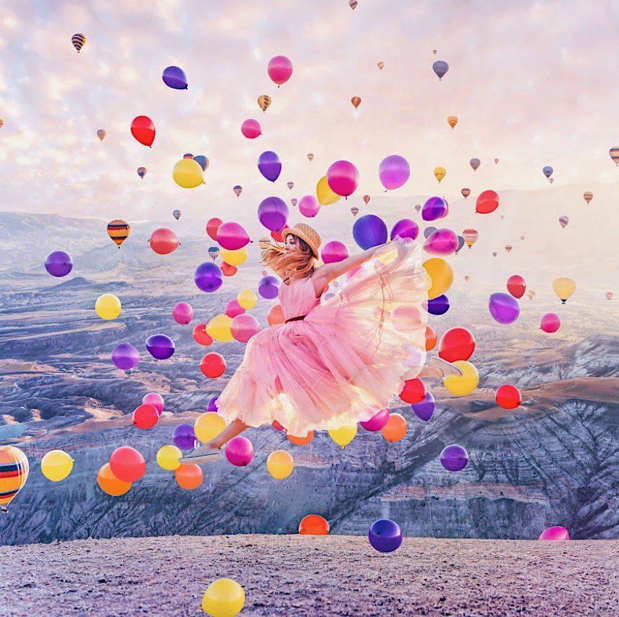 590+Kristina Makeeva und weit mehr als 21 Luftballons   Luftballons ...