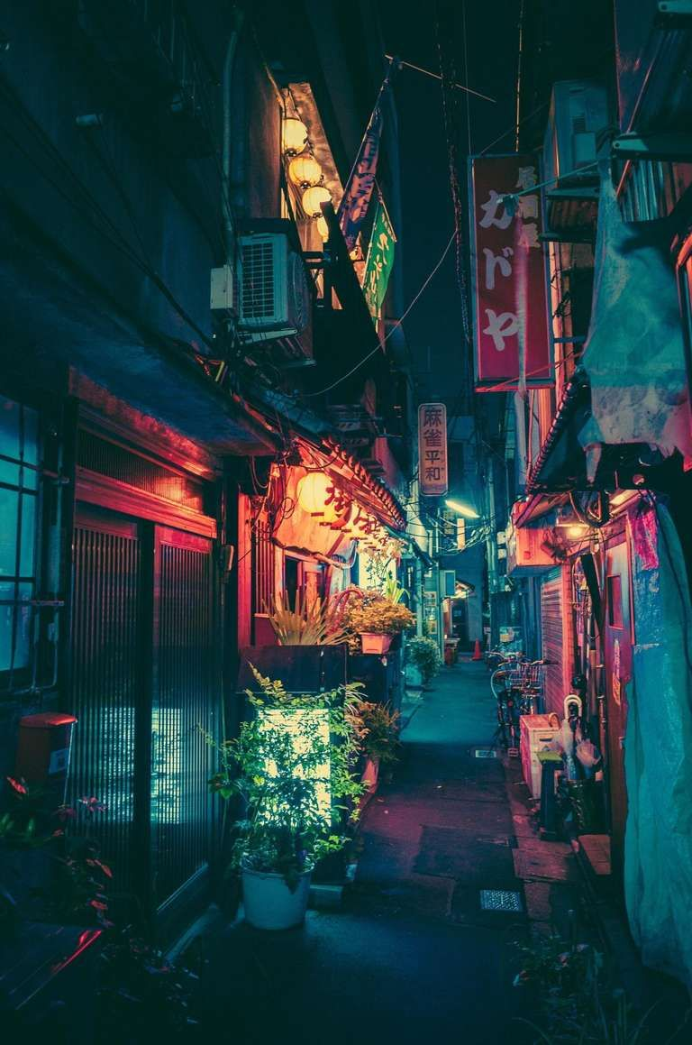 Wallpaper Iphone Japan Hd 4k Iphone Wallpaper 4k In 2020 Urban Landscape Landscape Drawings Abstract City