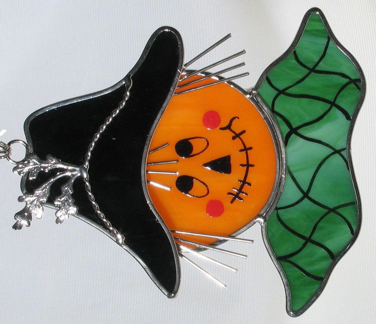 Stained Glass Scarecrow Sun Catcher Faux Stained Glass Stained Glass Crafts Stained Glass Ornaments