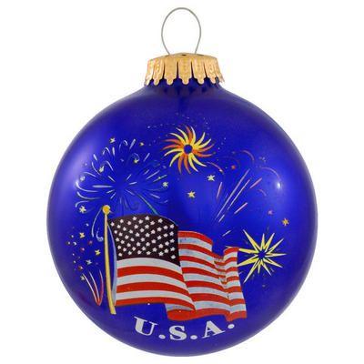 U S A Flag And Fireworks Christmas Ornament Patriotic Christmas Christmas Ornaments Patriotic Christmas Tree