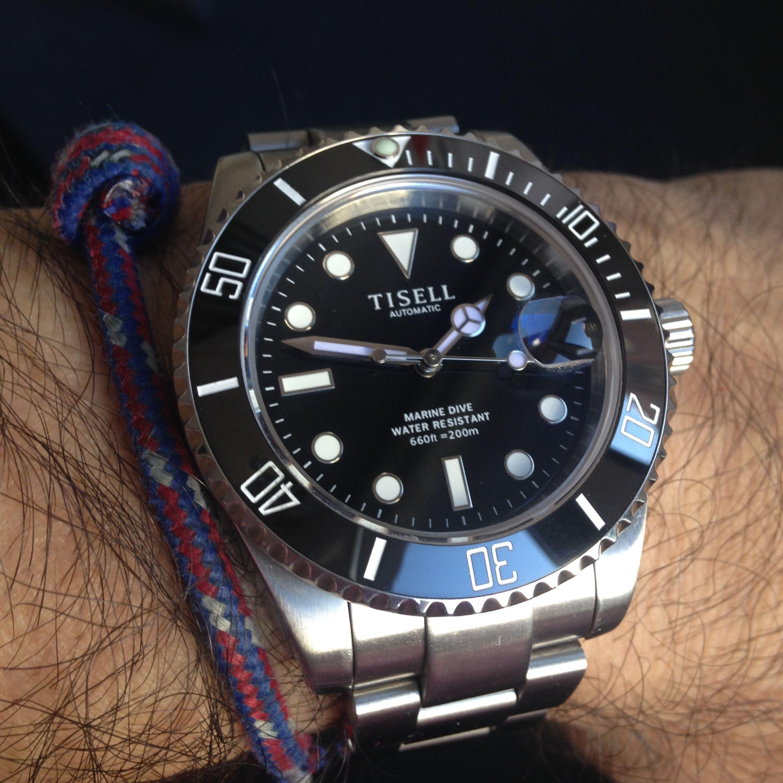 9015 Steel Sapphire 316l Movement Miyota Tisell Crystal Watch UVSzpM