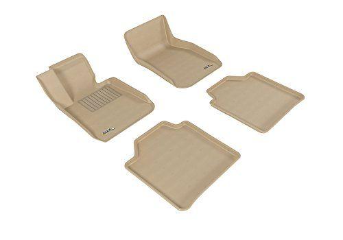 Kagu Rubber Tan 3D MAXpider Complete Set Custom Fit All-Weather Floor Mat for Select Chevrolet Malibu Models