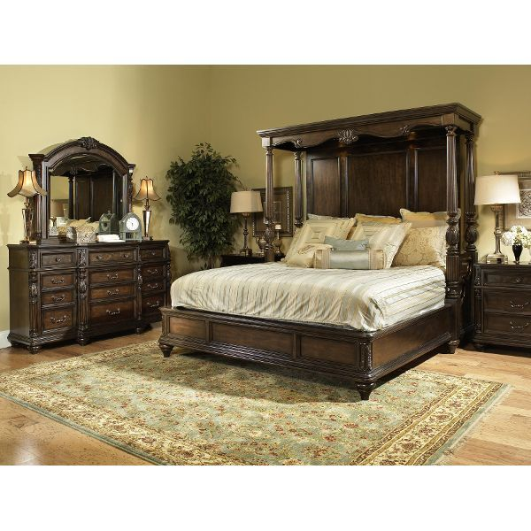 Clearance Chateau Marmont Fairmont 7 Piece King Bedroom Set | Decor ...