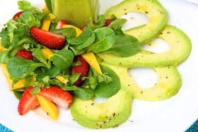The Café Sucré Farine: Fresh Herb Salad w/ Avocado-Basil Vinaigrette
