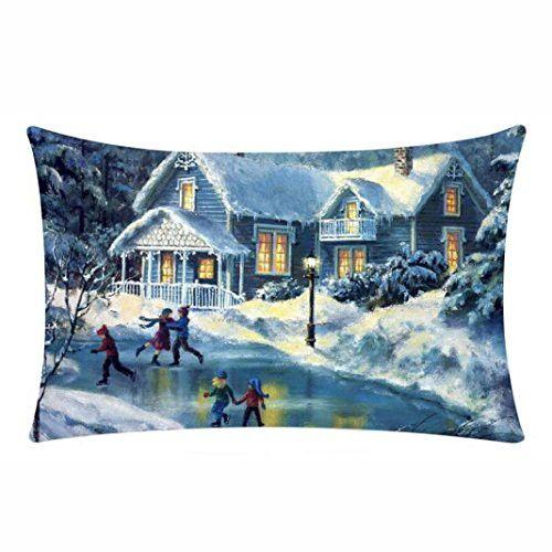 Clearance! Joopee Merry Christmas Pillow Cases Cotton Linen Sofa - christmas clearance decor