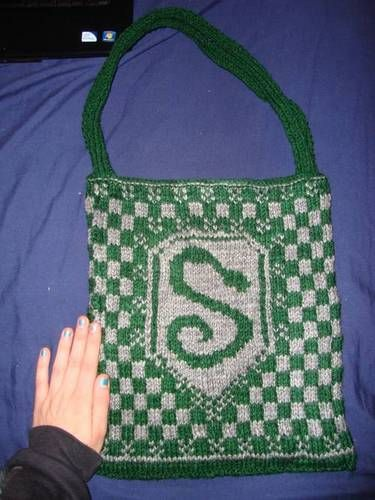 Harry Potter Fair Isle Knitting: Slytherin Bag by ...